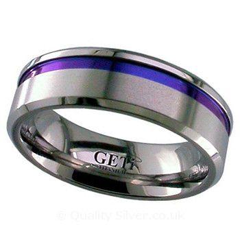 Geti Offset Anodised Zirconium Ring