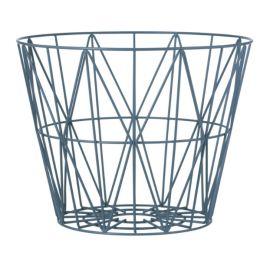 Ferm Living Wire basket petrol