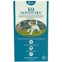 K9 Advantix Medium Dogs 11-20 lbs (Aqua) 6 + 1 Free Doses