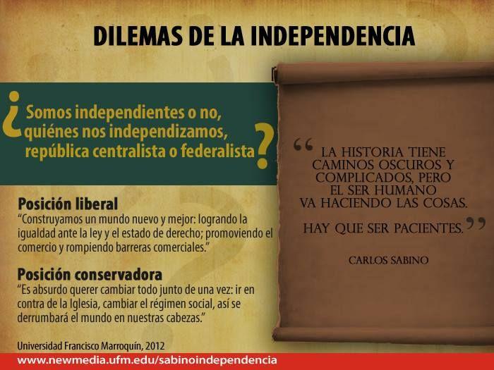 Carlos Sabino nos comparte algunos de los dilemas enfrentados por los grupos políticos hispanoamericanos que iniciaron los procesos de independencia de Guatemala.