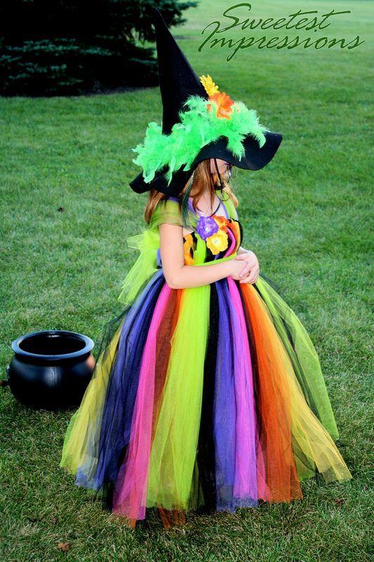 Halloween Witch Costume Tutu Dress Costume by AllDressedUpCouture