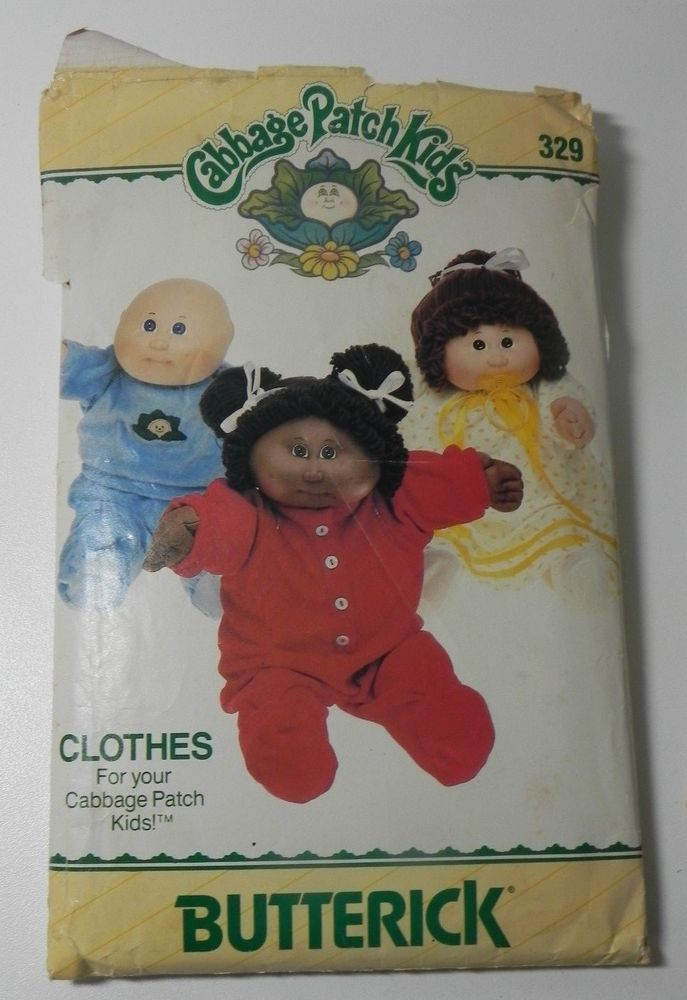 Butterick Cabbage Patch Kids Doll Clothes Nightgown PJ Sewing Pattern 329 #Butterick