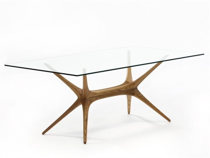 Mesa retangular da sala de estar de madeira X-FRAME by Artek | design Tapio Wirkkala