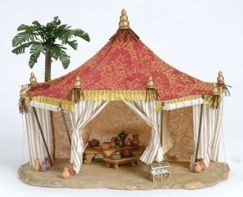 Fontanini 3 Piece Set 13 Kings Tent Oasis