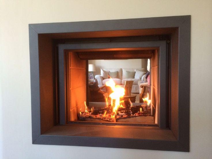 Stuv 21/75 doublesided woodburner installation wood burning stove installation from Kernow Fires.