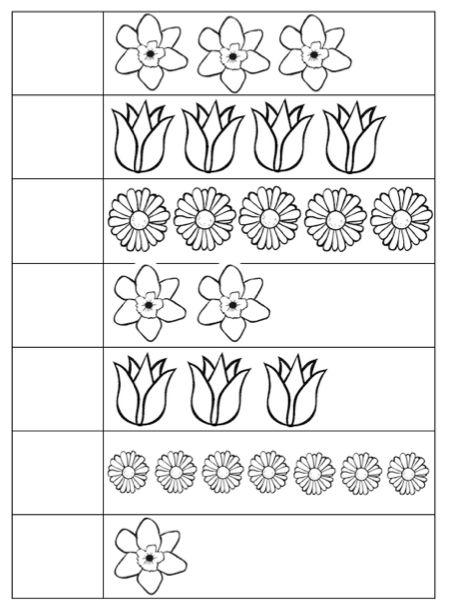 Werkblad: Bloemen Tellen 2