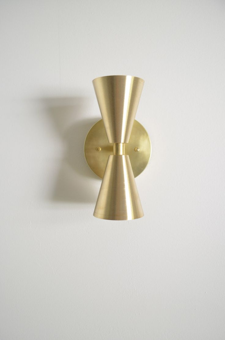 Madonna • modern mid-century solid brass cone light • UL Listed by TripleSevenHome on Etsy https://www.etsy.com/uk/listing/208694811/madonna-modern-mid-century-solid-brass