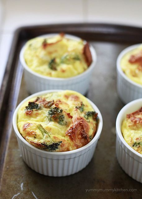 overnight baked eggs with broccoli and cheese