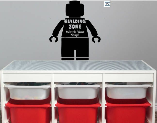 A personal favorite from my Etsy shop https://www.etsy.com/listing/532407504/lego-decal-lego-playroom-decal-boys-room