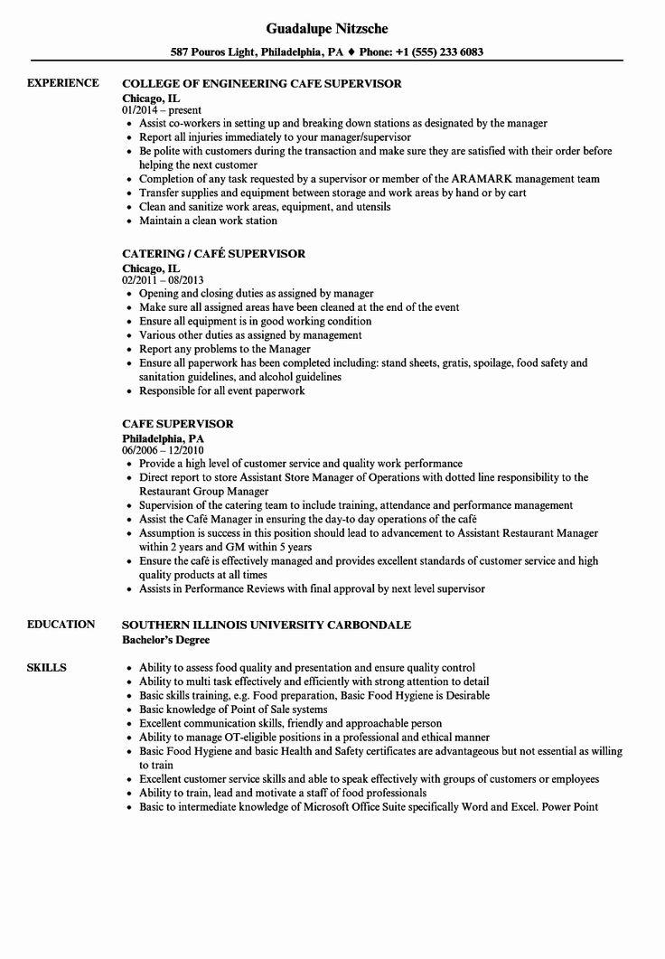 20 Bar Manager Job Description Resume in 2020 Nurse job