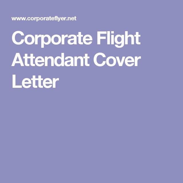 Corporate Flight Attendant Cover Letter
