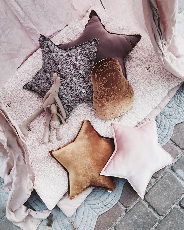 Our new Matrioska cushion and star velvet pillows are now on sale! #numero74…