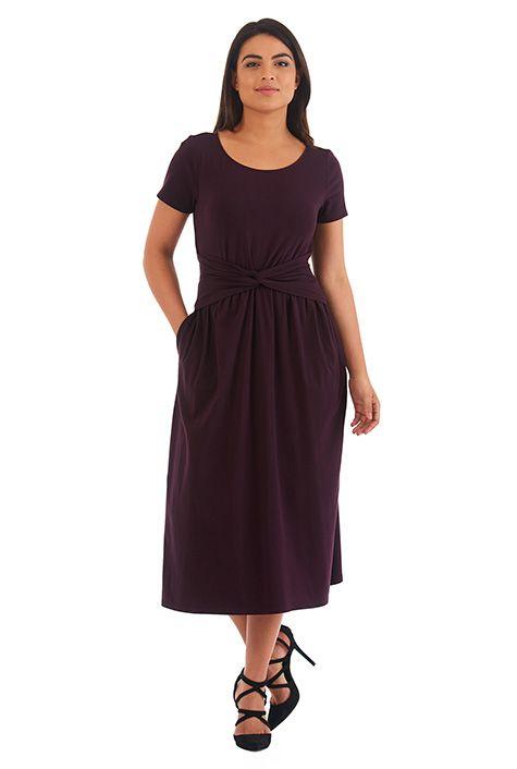 I <3 this Knot waist jersey knit dress from eShakti