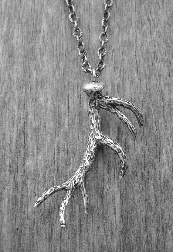 Silver Deer Antler Necklace by Ink & Roses 13