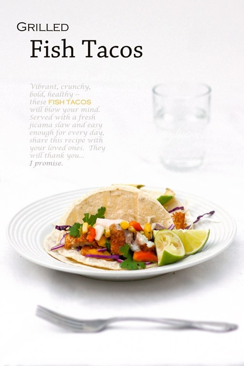 150 best delicious dinner recipes images on pinterest for Healthy fish tacos