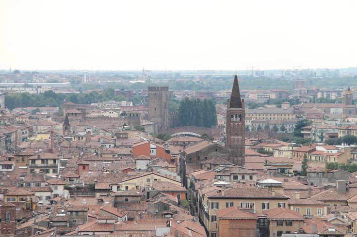 Widok na Weronę z Piazzale Castel San Pietro