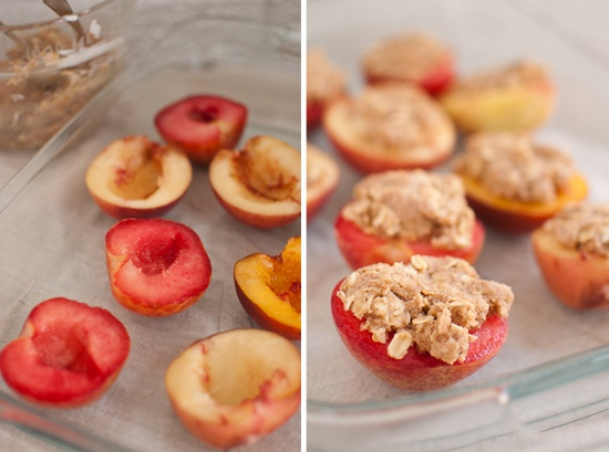 individual peach crisps // can't wait to try this! via cookieandkate.com