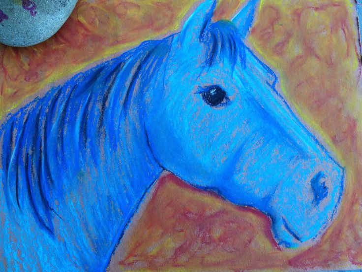 Pastel Horse - art lesson