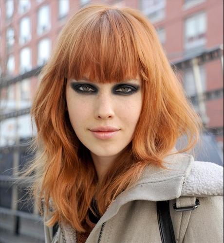 Hairdo, hairstyle, fringe, bangs
