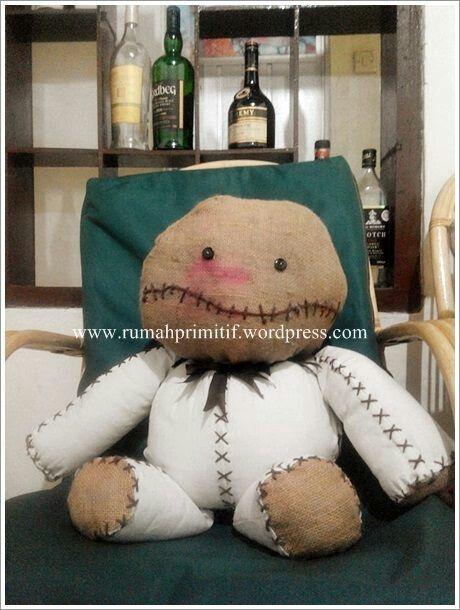 My lovely Big EDGAR!! ♥  #ragdoll #rag #burlap #handmade #halloween #cutemonster #primitivedoll #rumahprimitif