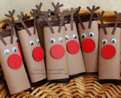 Manualidades de Navidad con rollos de papel higiénico - Aprendiendo con Julia