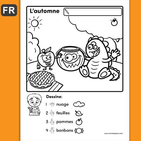 GRATUIT / FREE L'enfant complète le dessin en suivant les consignes données.