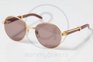 f0d7c69f747d Image of Cartier Bagatelle wood 55-18   Vintage Sunglasses