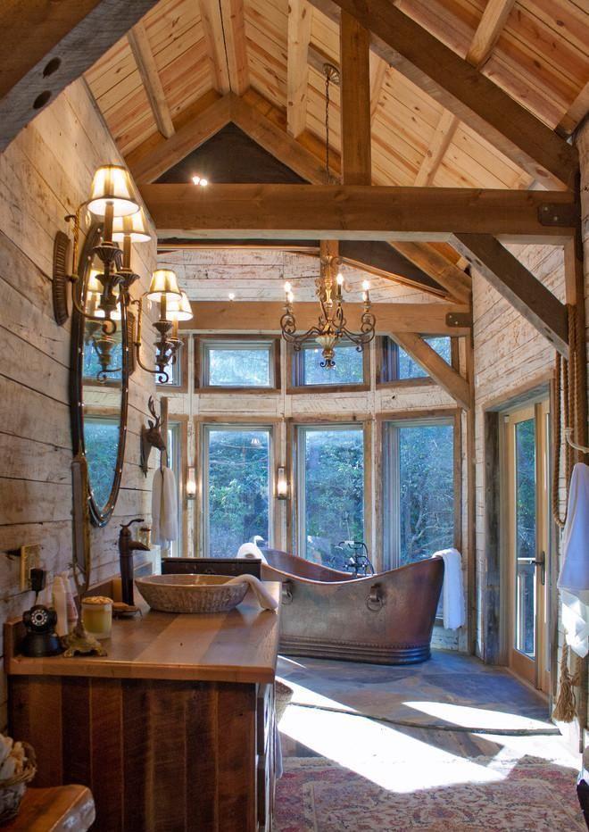 cottage wooden bathroom