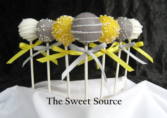 Wedding cake pops... love the colors