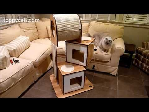 Hagen Vesper Cat Furniture V-Tower Cat Tower Arrival Video http://www.floppycats.com/hagen-vesper-cat-furniture-v-tower-cat-tower-arrival-video.html