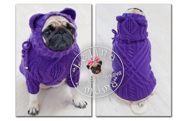 violet sweater on a pug #араны #handmade #хендмейд #pug #pugs #carlino #mops #мопс #ручнаяработа #вязание #вязаниесобакам #назаказ #собаки #dog #вяжудлясобак #вязанаяодеждадлясобак #вязаниесобакам #одеждаживотным #одеждадлясобак #dogfashion #dog #crochet #lelina_mama #livemaster #mysolutionforlife #dogsweater #instadog #dogsofinstagram #ажур #вяжу #хочув_mir_handmade #явяжу