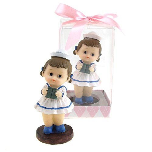 Baby Sailor Outfit Polyresin Favors, 3-1/4-Inch (Pink)