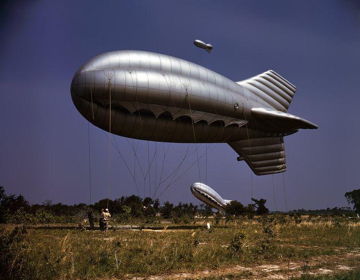U.S. Marine Corps barrage balloon, Paris Island, May 1942