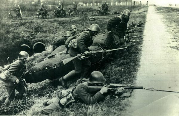 May, 1940. Dutch Soldiers during the German invasion of the Netherlands.