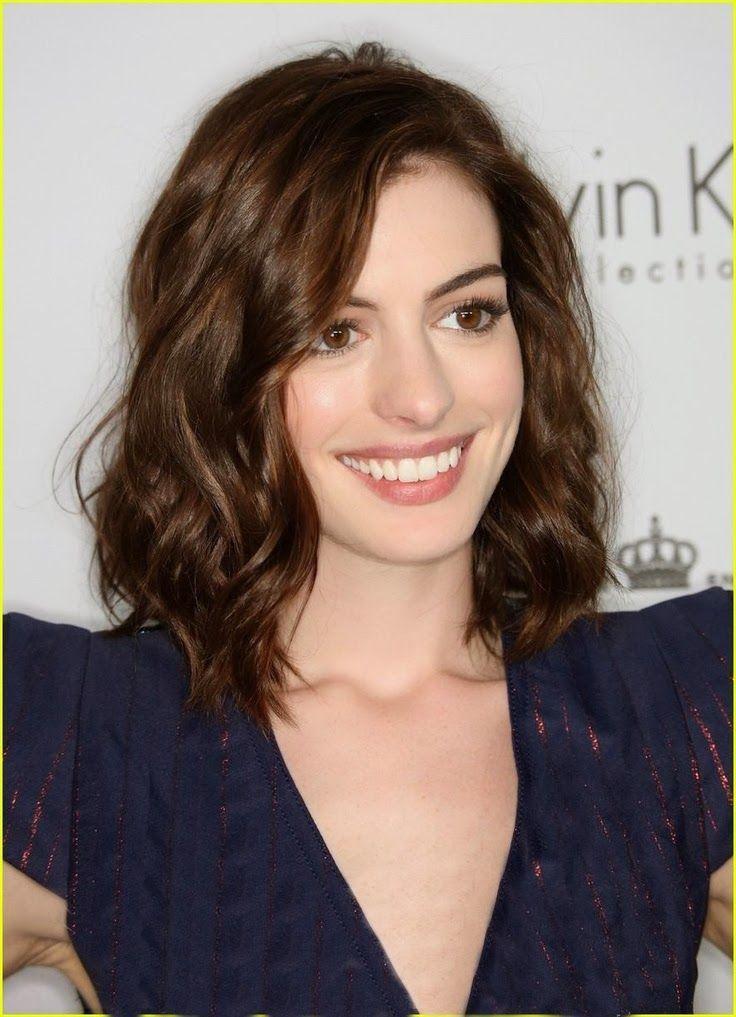 Anne Hathaway Medium Length Brown Hair Truly Unruly Pinterest