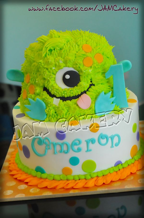 Lil Monster Smash Cake Birthday Hat By Tufftots On Etsy Picture
