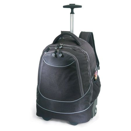 Travelers Choice Pacific Gear Horizon Rolling Computer Bag / Multi-Use Carry-On Backpack, Black