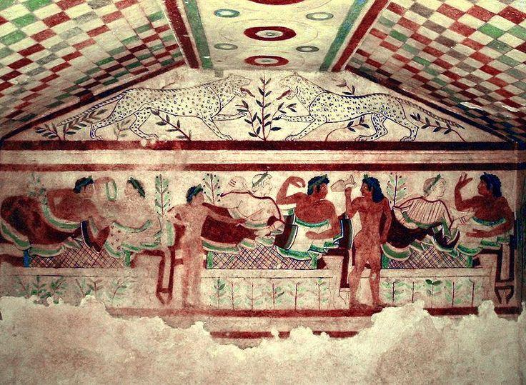 Uczta z etruskiego Grobowca Leopardów, V w p.n.e.