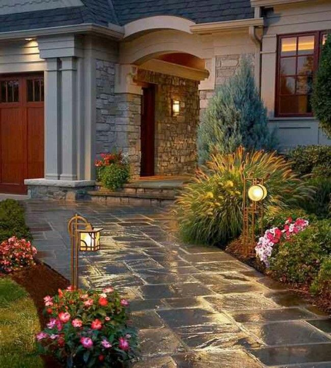 High Resolution Landscaping With Stones 9 Front Yard: Pretty Walkway.