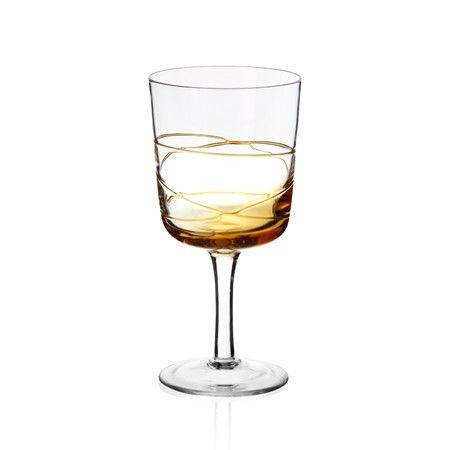 Bernardo Amber Kadeh #drinking #wine #glass #tabledesign