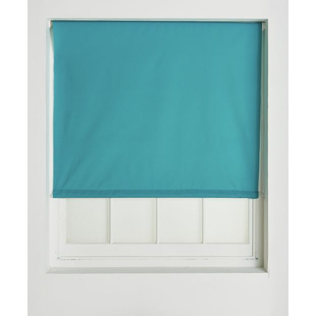 Home Blackout Roller Blind 4ft Teal Teal Blinds