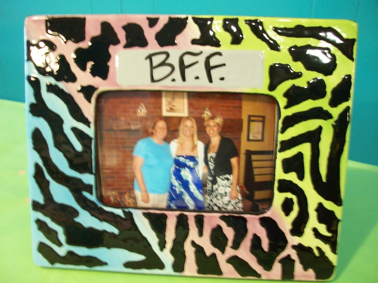 Cool picture frame created at Kiln Creations, Noblesville, Indiana.  www.kilncreations.net