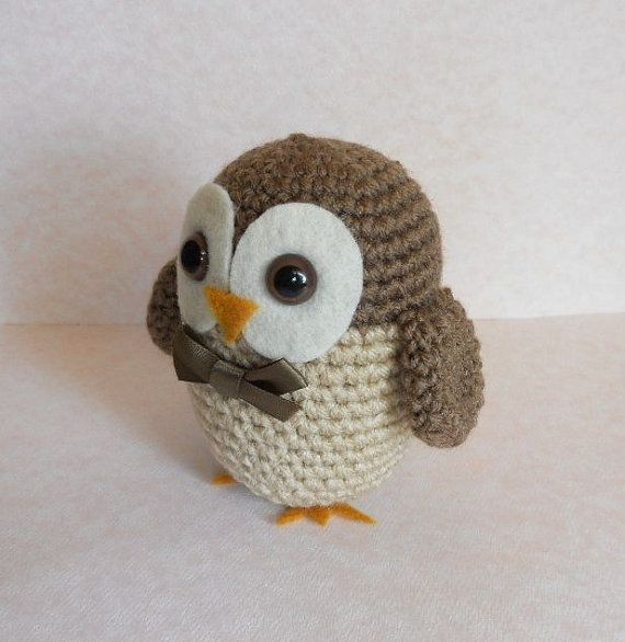 Owl Crochet Pattern Amigurumi Bird Plush