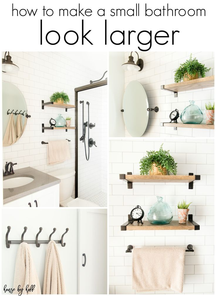176956 best blogger home projects we love images on - How to make a small bathroom look larger ...