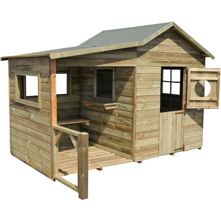 Maisonnette bois Dinant | Maisonnette en bois, Cabane bois enfant, Plan cabane en bois
