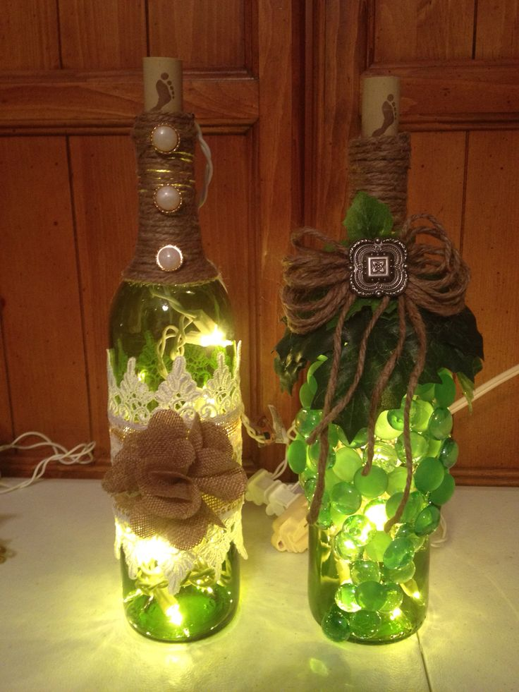 33 best images about things i made on pinterest horse for Things made from wine bottles