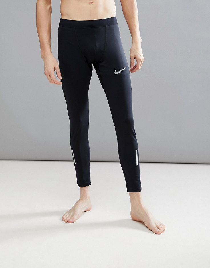 Get this Nike Running's tights now! Click for more details. Worldwide  shipping. Nike Running Power Tech Tights In Black 857845-010 - Black: T  raining tights ...