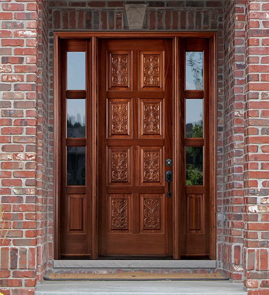 Carved Exterior Doors With Panels Outside Door