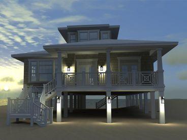 Beach House Plan, 052H-0084