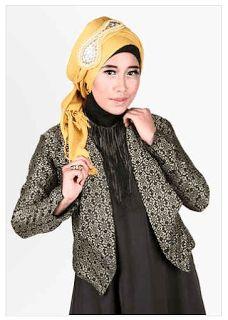 trend busana muslim cardigan songket terbaru 2016